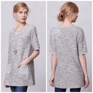 Anthropologie Meadow Rue Shimmered Boucle Tunic S